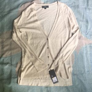 Mossimo cream button-up cardigan